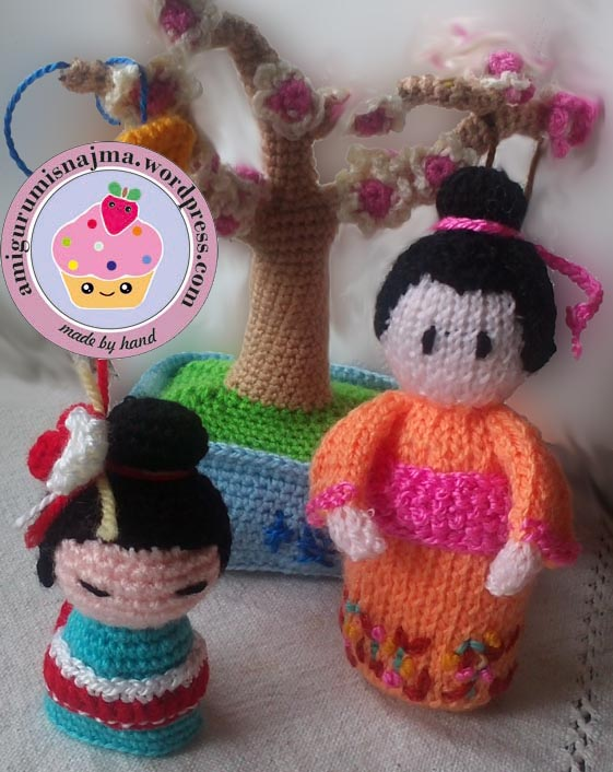 knitted geisha kokeshi doll amigurumi najma-01