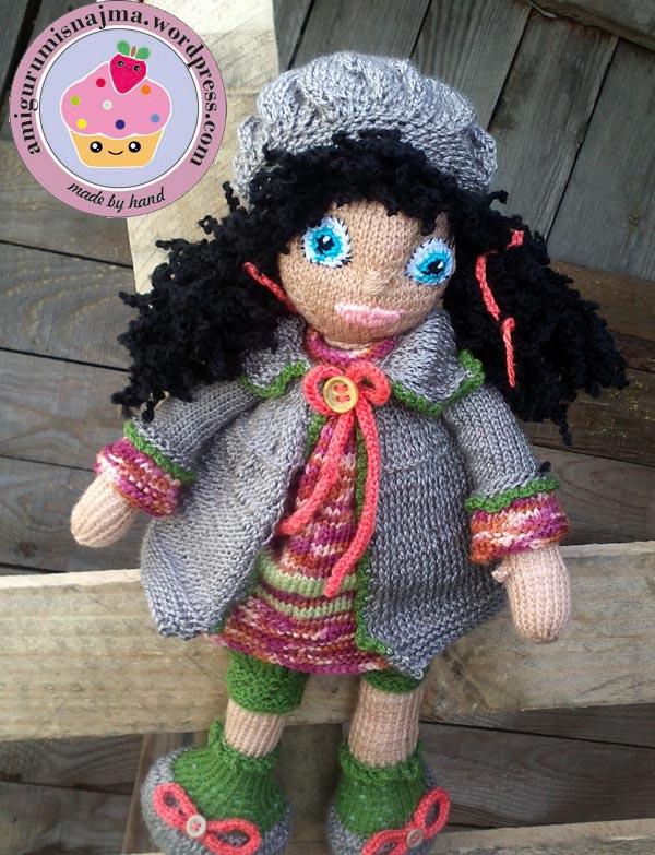 knitted doll Mandy muñeca tejida tricot  najma08