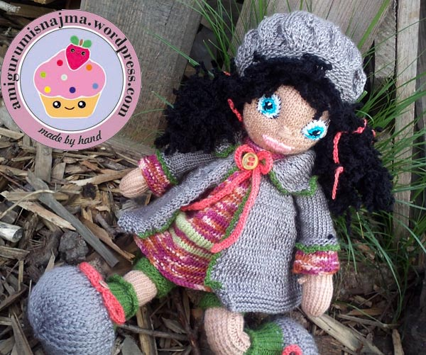 knitted doll Mandy muñeca tejida tricot  najma09