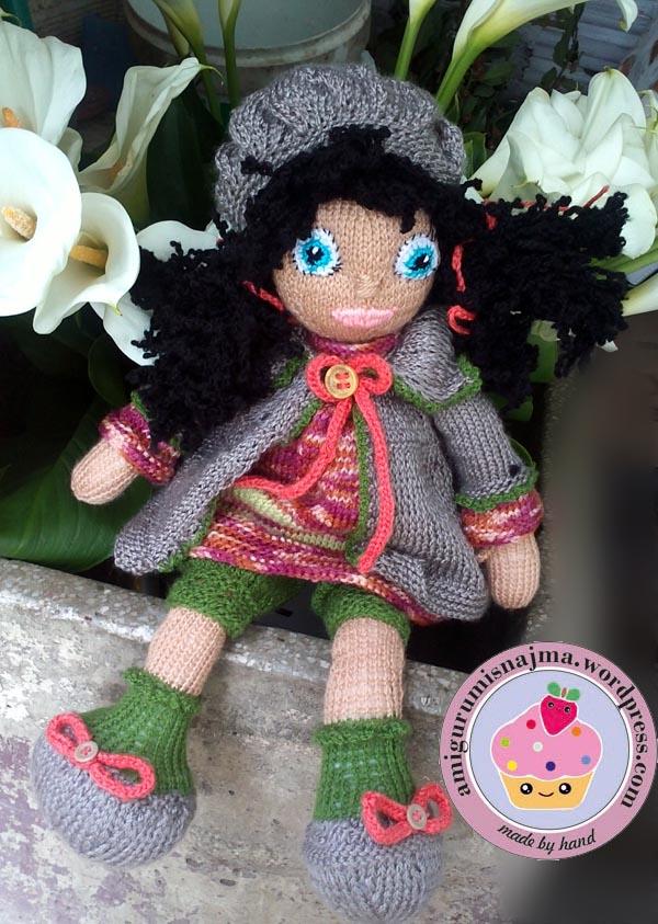 knitted doll Mandy muñeca tejida tricot  najma10