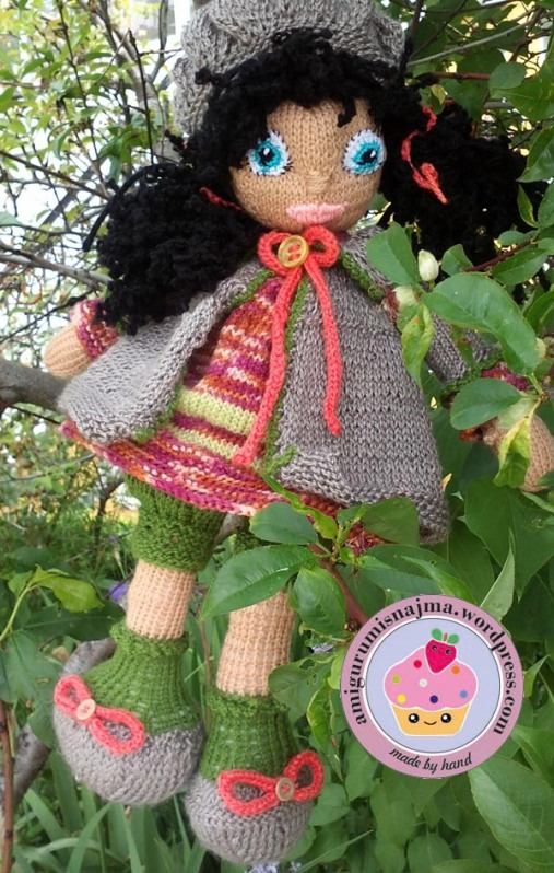 knitted doll Mandy muñeca tejida tricot  najma11