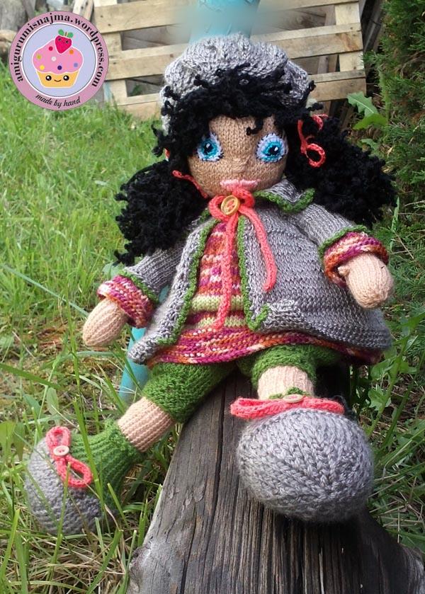 knitted doll Mandy muñeca tejida tricot  najma16