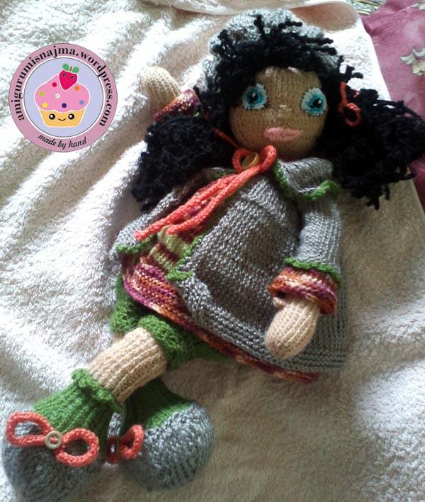 knitted doll Mandy muñeca tejida tricot  najma18