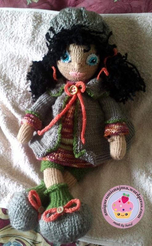 knitted doll Mandy muñeca tejida tricot  najma19