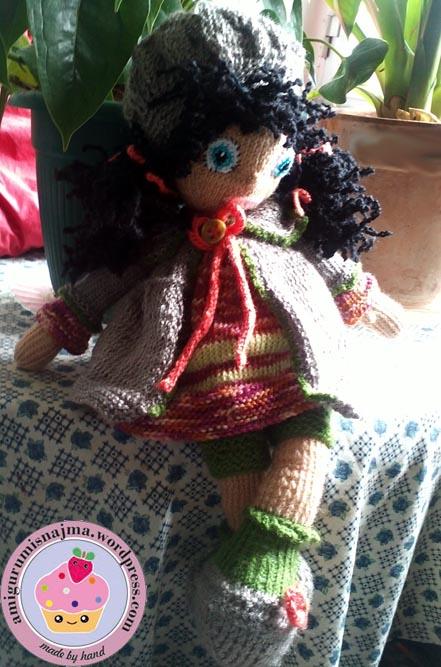 knitted doll Mandy muñeca tejida tricot  najma22
