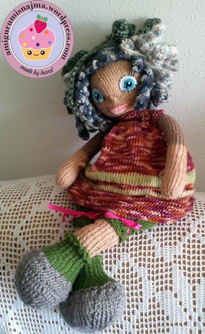 knitted doll muñeca tejida tricot  najma01