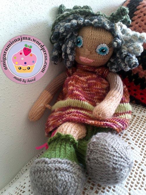 knitted doll muñeca tejida tricot  najma02