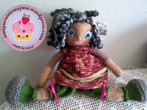 knitted doll muñeca tejida tricot  najma03