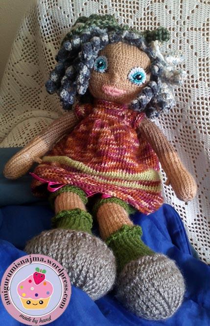 knitted doll muñeca tejida tricot  najma10