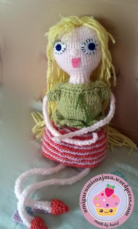 knitted doll violet muñeca tejida tricot  najma01