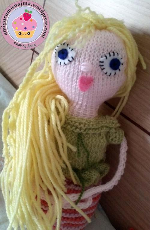 knitted doll violet muñeca tejida tricot  najma03