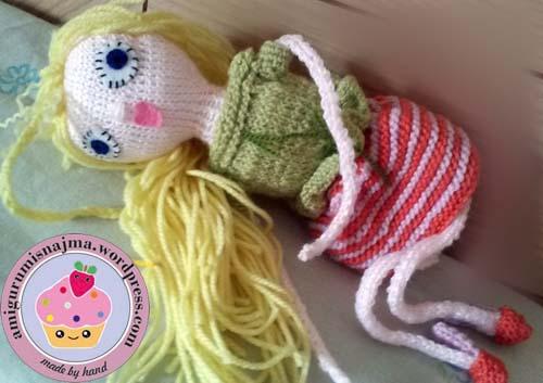 knitted doll violet muñeca tejida tricot  najma04