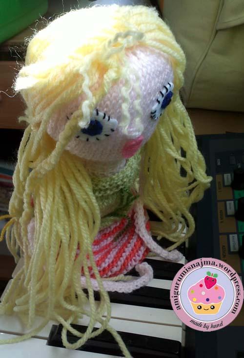 knitted doll violet muñeca tejida tricot  najma06