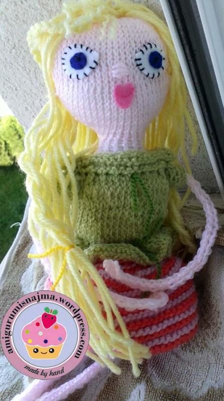 knitted doll violet muñeca tejida tricot  najma09