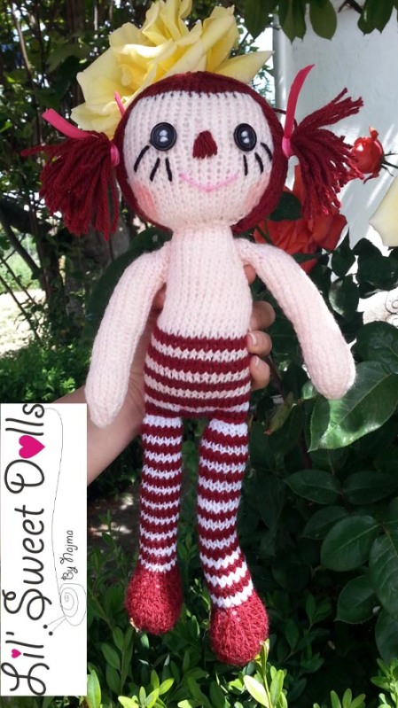 knit doll raggedy ann