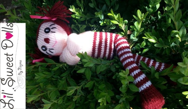 raggedy ann knit doll