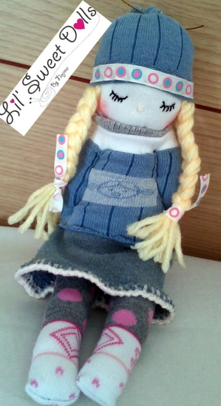 muñecas calcetin sock doll lil sweet dolls najma04