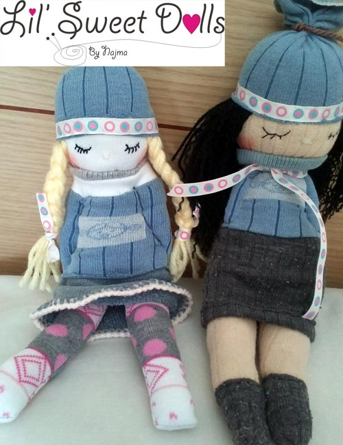 muñecas calcetin sock doll lil sweet dolls najma07