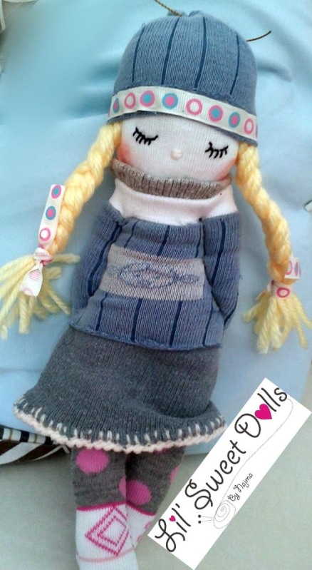 muñecas calcetin sock doll lil sweet dolls najma08
