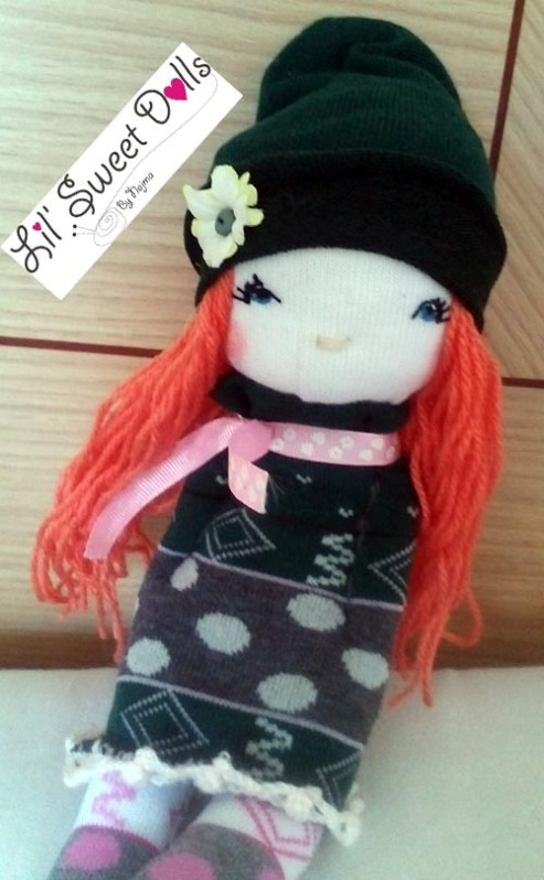 muñecas calcetin sock doll lil sweet dolls najma11