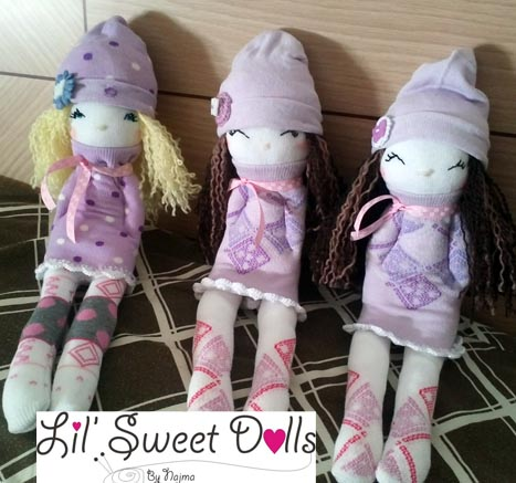 muñecas calcetin sock doll lil sweet dolls najma14