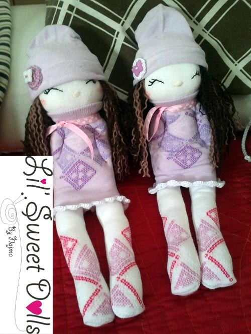 muñecas calcetin sock doll lil sweet dolls najma15