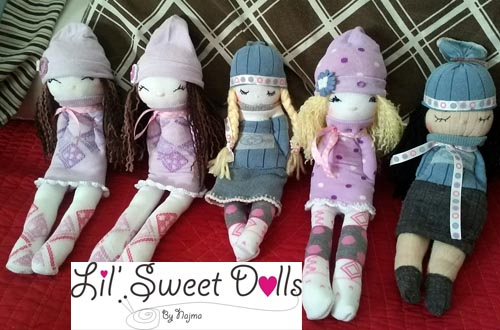 muñecas calcetin sock doll lil sweet dolls najma16