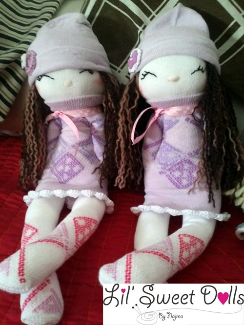 muñecas calcetin sock doll lil sweet dolls najma17