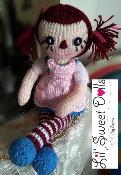 raggedy Ann knit doll najma06
