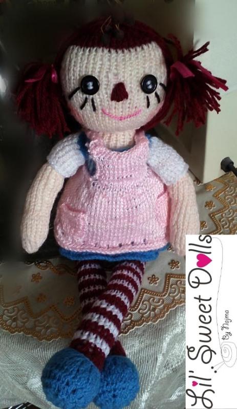 raggedy Ann knit doll najma07