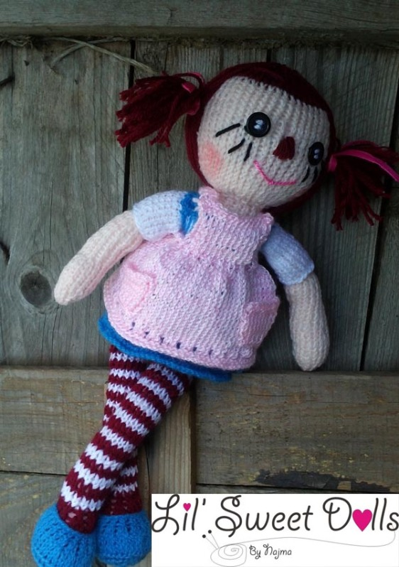 raggedy Ann knit doll najma15
