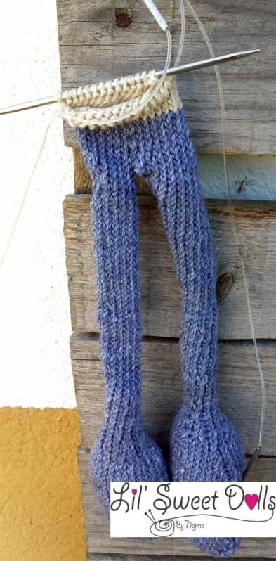 wip knitted doll arne and carlos