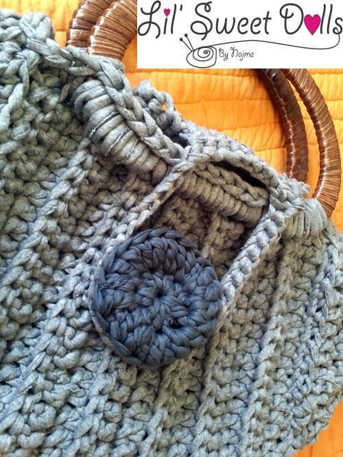 bolso tejido crochet trapillo