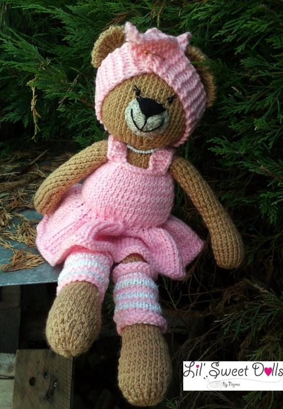osita bailarina knitted  doll najma07