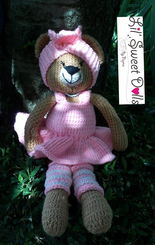 osita bailarina knitted  doll najma10