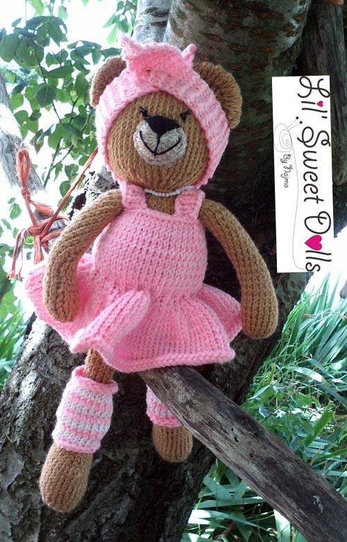 osita bailarina knitted  doll najma11