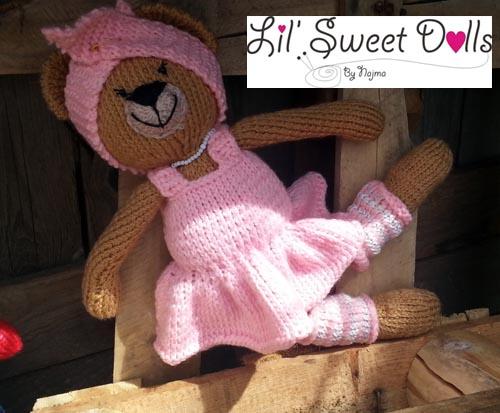 osita bailarina knitted  doll najma12