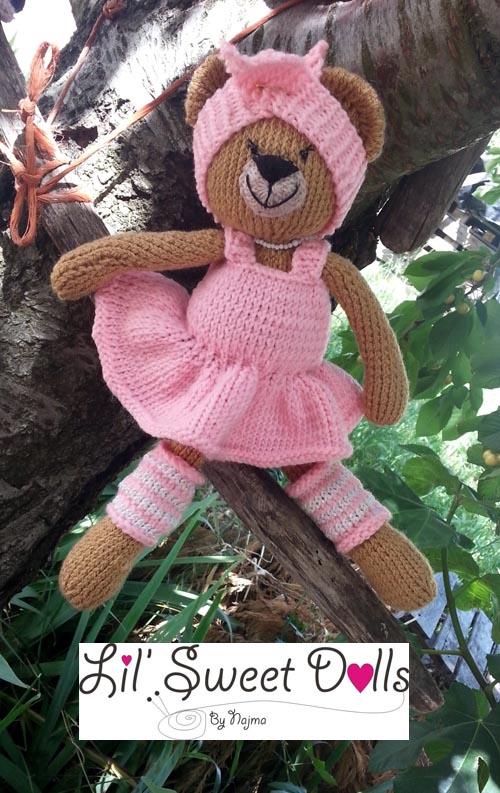 osita bailarina knitted  doll najma16
