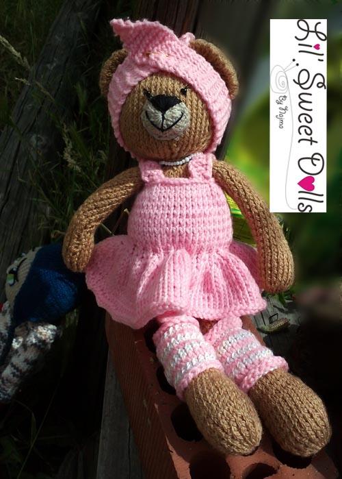 osita bailarina knitted  doll najma17