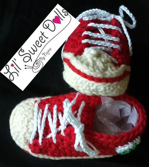 botitas bebe ganchillo baby booties sneakers