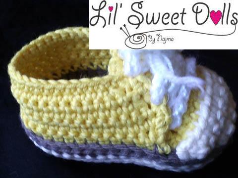 baby sneakers booties crochet