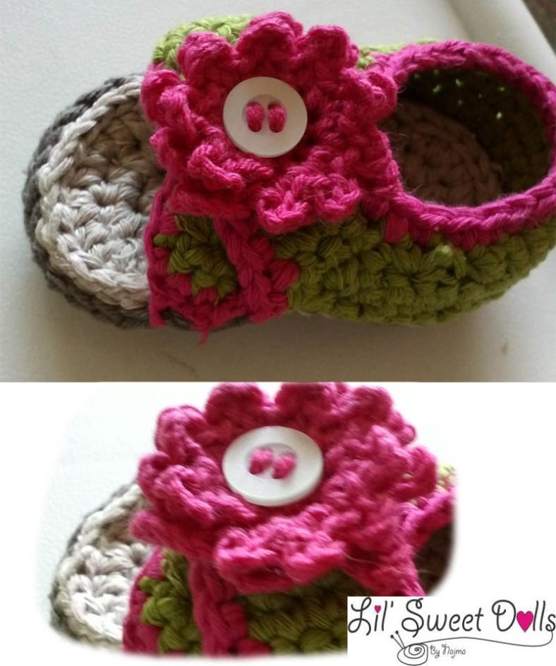 sandal baby  crochet