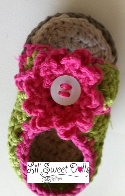baby crochet sandal shoe
