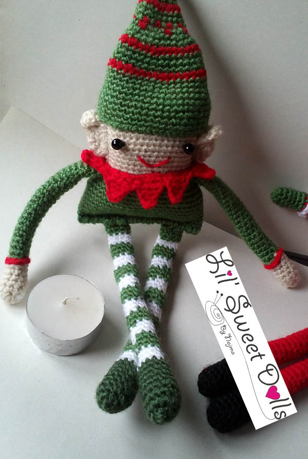 elfo crochet ganchillo christmas doll amigurumi elf