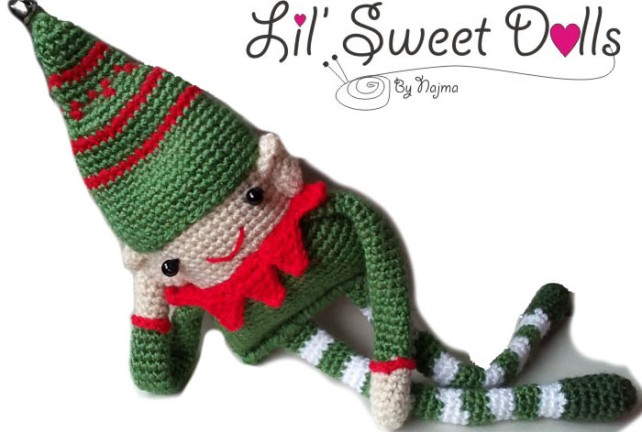 elfo crochet ganchillo christmas doll amigurumi toy