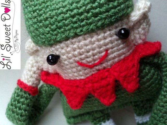 elfo crochet ganchillo christmas doll amigurumi