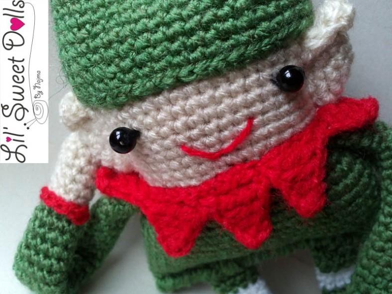 elfo crochet ganchillo christmas doll amigurumi