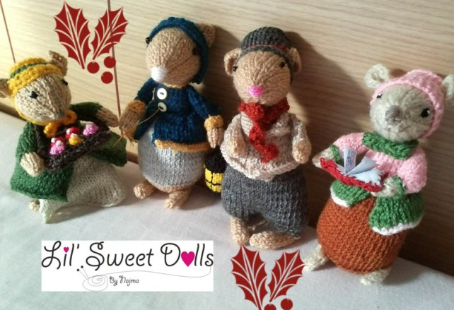 dickensian mice crochet ganchillo doll  najma01