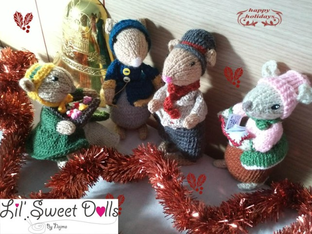 dickensian mice crochet ganchillo doll  najma02