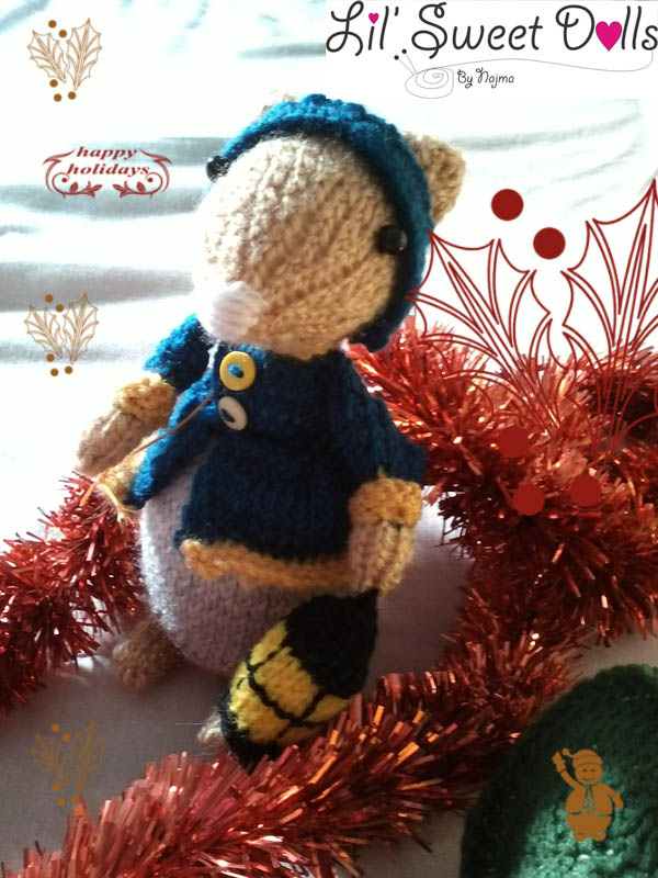 dickensian mice crochet ganchillo doll  najma04